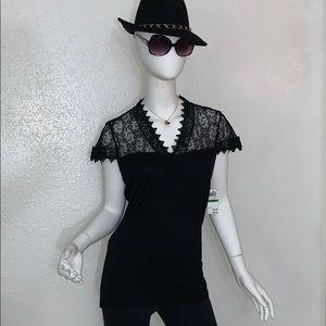 INC International Concepts Tops - INC International Concepts Cap Sleeve Lace Top L